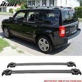 jeep patriot mods 07 15 jeep patriot oe style roof rack croos bar crossbar black