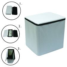 Clothes Hampers With Lids Simply Genius Collapsible White Laundry Basket Hamper U0026 Lid