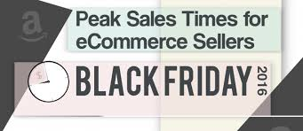 amazon black friday deal times peak sales times for online sellers on black friday infographic