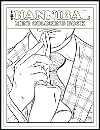 coloring pictures of hannibal u0027 returns tonight enjoy this mini coloring book about