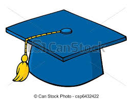 blue graduation cap blue graduation cap and tassel vector illustration search