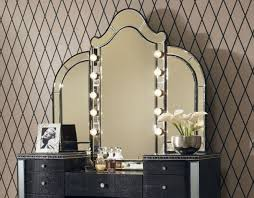 Bedroom Vanity Lights Foxy Design Ideas Using Rectangular Black Wooden Dressers Include