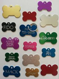 Engravable Dog Tags Pet Tags Id Custom Bone Double Sided Diamond Engraved Dog Cat Name