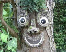 tree face tree face yard art etsy