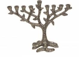 tree of menorah plated tree design menorah