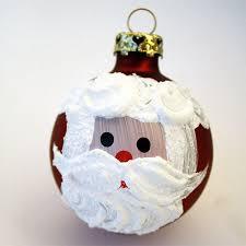 painted santa ornament craft snob