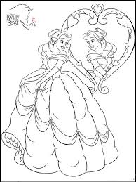 princess belle coloring pages free printable princess belle