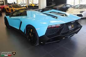 lamborghini aventador for sale in california smurf blue aventador roadster 50th anniversary for sale in