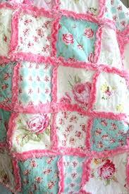 shabby chic quilts crib rag quilt baby crib bedding shabby