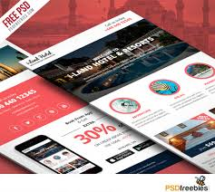 free templates for hotel brochures hotel deals and offers newsletter template free psd psdfreebies com