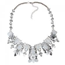 white crystal necklace images Ivory crystal opal stone statement necklace jpg