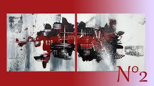 Tableau Abstrait Rouge Et Gris by Tableau Abstrait En Rouge Et Noir Anthony Painting Youtube