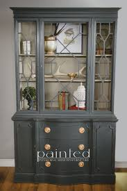 china cabinets hutches china cabinet painted with annie sloan chalk paint in graphite and