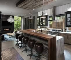 kitchen islands calgary dallas industrial kitchen island with gray walls finger grooves