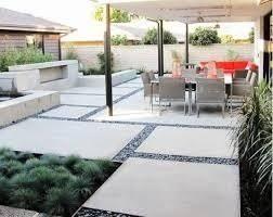 Backyard Cement Ideas Project Ideas Cement Backyard Gardening Design