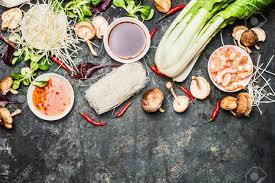 la cuisine asiatique de délicieux ingrédients de cuisine asiatique pour la cuisine