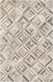 Leather Area Rug Williston Forge Easthton Woven Ivory Cowhide Leather Area