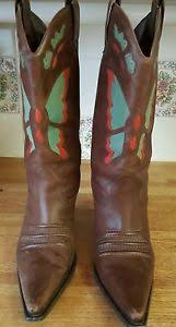 womens brown cowboy boots size 9 womens diba chantilly butterfly brown leather cowboy boots