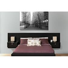 Designer Nightstand Prepac Series 9 Designer Wall Mounted Headboard System With 2