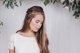 wedding headband gold silver or gold swarovski wedding headband