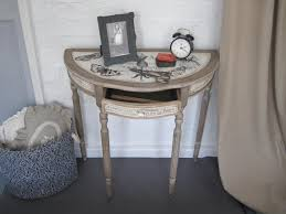 Half Moon Console Table Shabby Chic Half Moon Console Table Home Decorations Amazing