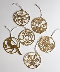 paper cut gold ornaments for your tree handmade ornaments tree