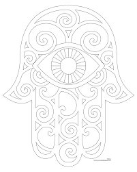 awesome free printable art and culture hamsa coloring books for