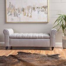 Gray Storage Bench Storage Bench Outdoor Shoe Patio Entryway Ebay