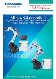 ta tb series panasonic industrial robot u0026 welding pdf