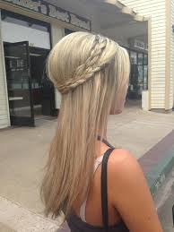 hair braiding styles long hair hang back tease the back of your hair for the bump then braid the long