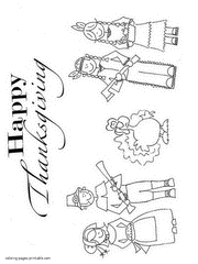thanksgiving coloring pages kids
