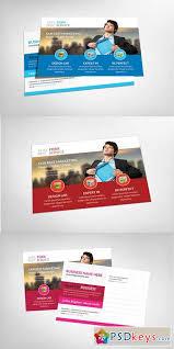 marketing postcard template 151882 free download photoshop