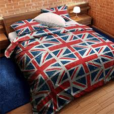 amazon com union jack red white blue twin flag comforter duvet