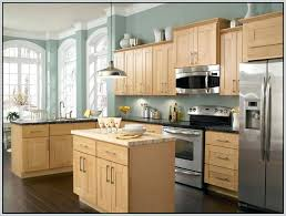 kitchen color schemes with maple wood cabinets cherry kitchen