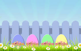 pastel easter eggs easter eggs with picket fence free stock photo domain
