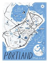 I 95 Map Libby Vanderploeg Cute Illustrated Maps