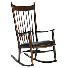 John F Kennedy Rocking Chair Rare Early Rosewood Rocking Chair By Sam Maloof For Sale At 1stdibs