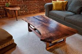 Coffee Tables Made From Trees Custom Made Live Edge Walnut Slab Coffee Table Woodworking Ideas