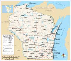 Map Of Northern Michigan by Reference Map Of Wisconsin Usa Nations Online Project