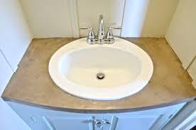 refinish bathroom sink top refinished concrete vanity top