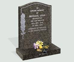 headstones and memorials honed south grey granite headstone memorials of