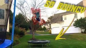 Best Backyard Trampolines Going On An Acon Rectanglebounciest Backyard Trampoline Youtube