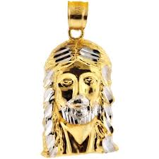 jesus cross gold necklace images 10k yellow gold jesus christ face head mens pendant 1 1 8 inches jpg