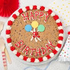 birthday cookie cake mrs fields happy birthday cookie cake