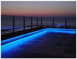 outdoor pool deck lighting blue parameter deck lighting birddog lighting blog