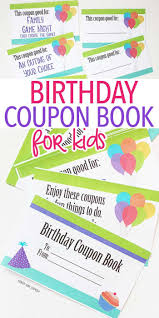 this printable birthday coupon book is the best gift for kids