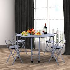 homcom extending butterfly dining table 4 chair set folding homcom 5 pc kitchen set black
