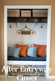 idea for inside of front entryway closet someday pinterest