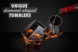 unique shaped wine glasses diamond glasses set of two diamond shaped glasses