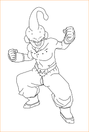 dragon ball z coloring pages kid buu coloring pages ideas